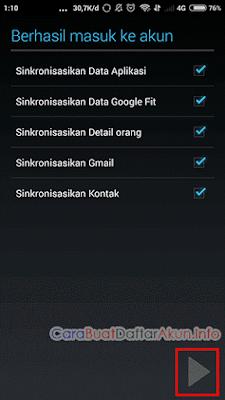 cara menambah akun google