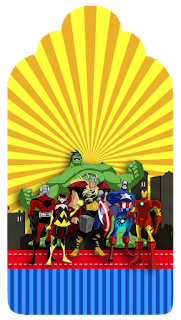 Avengers Comic Version Free Printable Tags.