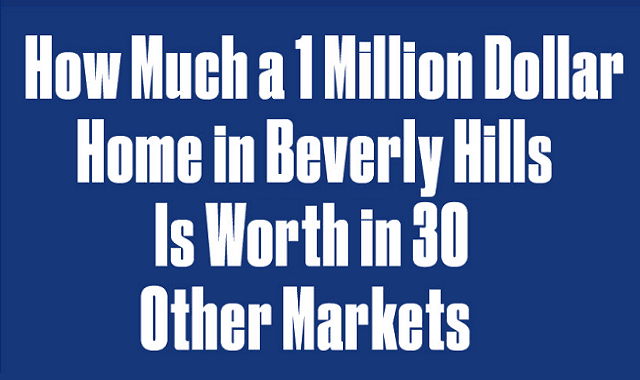 A million dollar home in Beverly Hills would be worth only $13,702.22 in Tamaqua