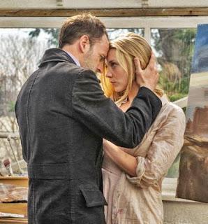 Jonny Lee Miller and Natalie Dormer as Sherlock Holmes and Irene Adler Moriarty in CBS Elementary Season 1 Finale Episode # 23 The Woman