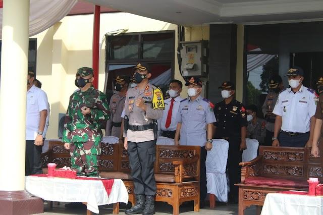 Apel Gelar Pasukan Ops Ketupat Krakatau 2021 Polres Lamtim Dihadiri Dandim dan Jajaran Forkopimda