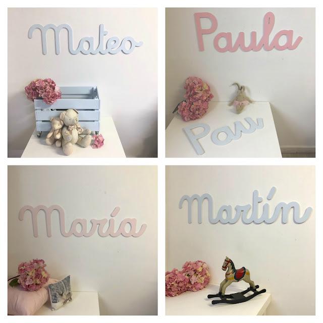 nombres de niño y niña para decoración infantil