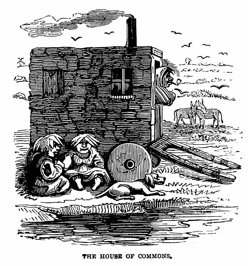 The House of Commons,  an 1861 cartoon about social class