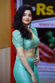 Ritika Singh sizzles in Green Choli Ghagra in Chennai