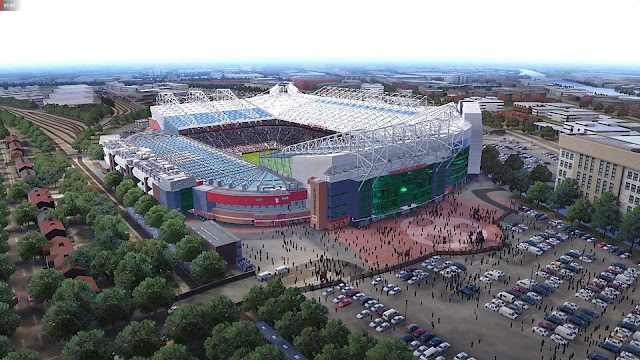 PES 2020 Old Trafford and Allianz Stadium Aerial View by Jostike Games