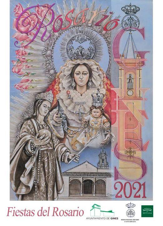 Cartel de las Fiestas del Rosario de Gines 2021