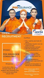 Lowongan Kerja Pos Assurance Consultant di Heksa Insurance