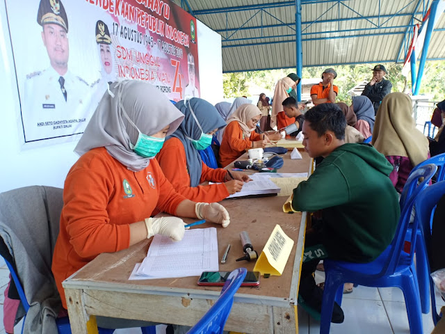 Puskesmas Borong Gelar Pospindu di Lokasi Perkemahan