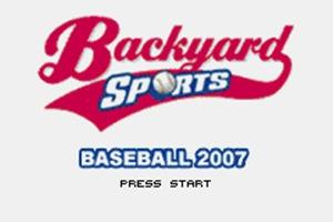 Backyard Sports Baseball 2007 GBA Rom - Download Game PS1 ...