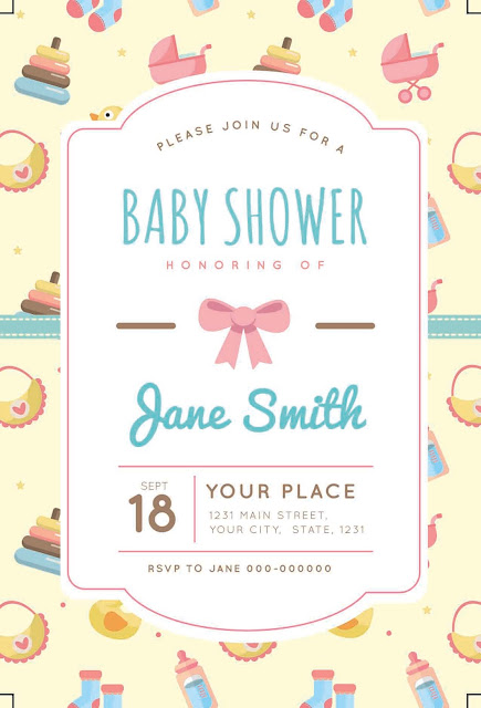 Baby Shower Invitation Card - BS Card 003