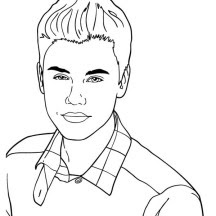Justin Bieber Justin Bieber Colouring Pages