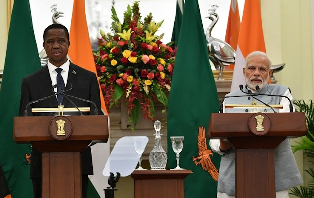 India, Zambia sign six MoUs to enhance cooperation in fields of geology, defence, arts and culture