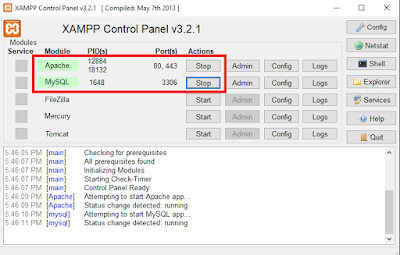 Cara Install Xampp di Windows PC - Start xampp