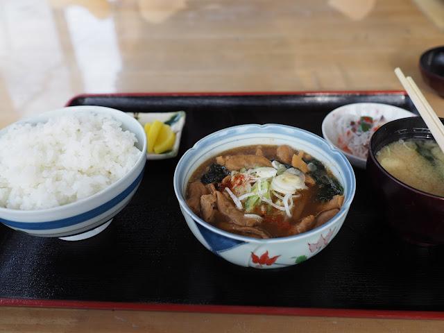 江戸川 関宿城博物館 けやき茶屋 もつ煮定食