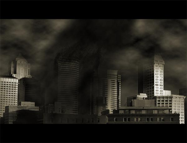 Эффект из фантастического фильма в Фотошопе.
