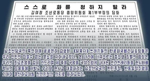 Statement issued by Kim Yo Jong
