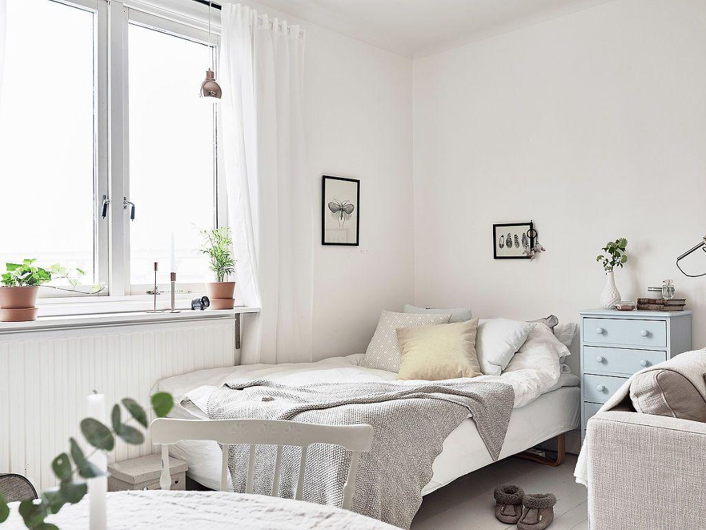 Sencillez y buen gusto en 38 metros cuadrados decoshabby for Dormitorio 9 metros cuadrados