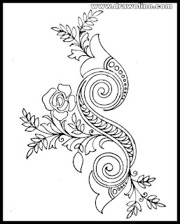 pencil drawing Embroidery design paper/beautiful hand embroidery designs.
