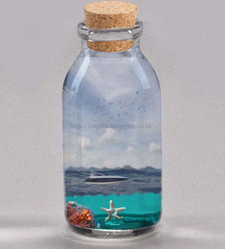 Hasil gambar untuk cara membuat foto dalam botol dengan photoshop