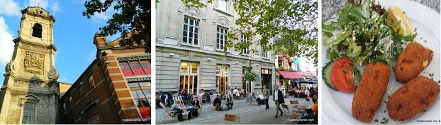 Restaurantes em Bruxelas na Place de Sainte-Catherine