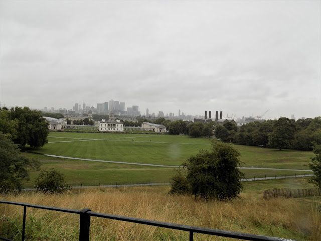 View of Greenwich Park, the Thames and beyond from the Royal Observatory, Greenwich