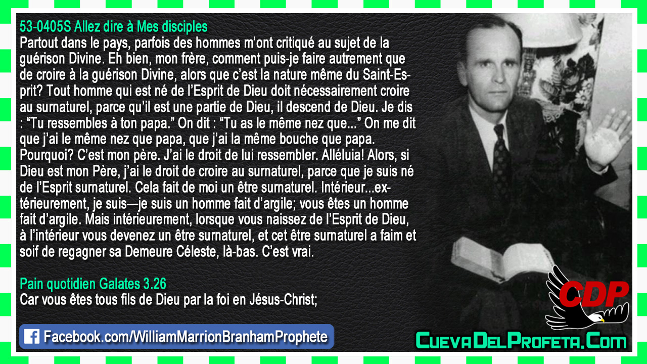 Doit nécessairement croire au surnaturel - William Marrion Branham