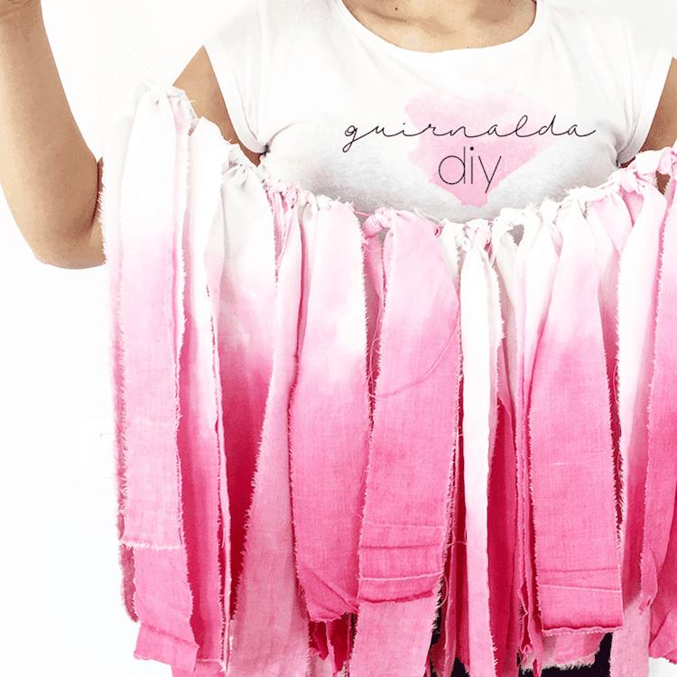 Guirnalda rosa DIY