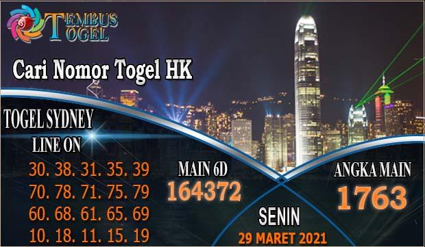Cari Nomor Togel Senin HK Tanggal 29 Maret 2021