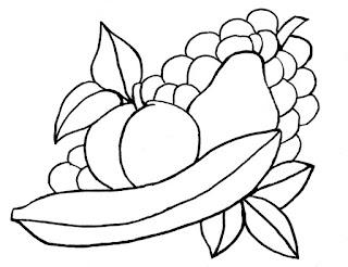 Downloadable fruit still life pattern