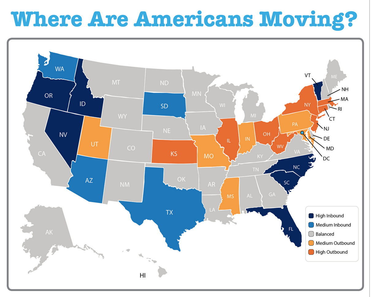 Where Are Americans Moving? [INFOGRAPHIC]   Keeping ...