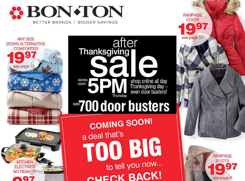 Bon Ton Black Friday 2017 Ad