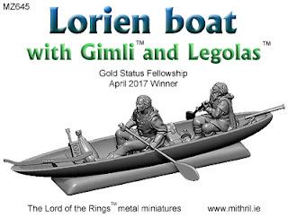 MZ645 Lorien boat with Gimli and Legolas