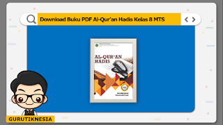 download ebook pdf  buku digital al-qur'an hadis kelas 8 mts