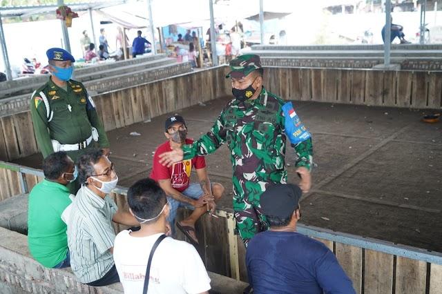 Satgas Covid-19 Korem 162/WB Bubarkan Judi Sabung Ayam Di Sindu Cakranegara.