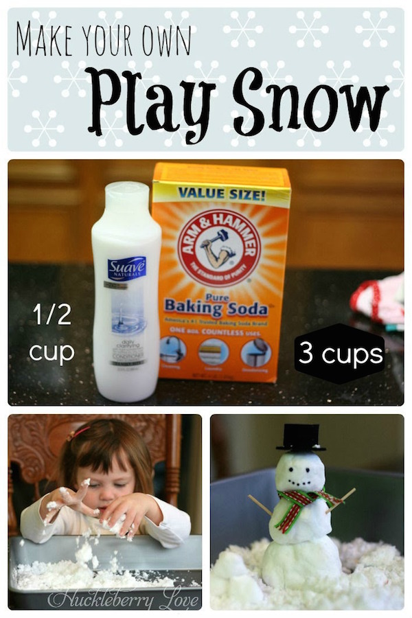 DIY Play Snow Kids Activity