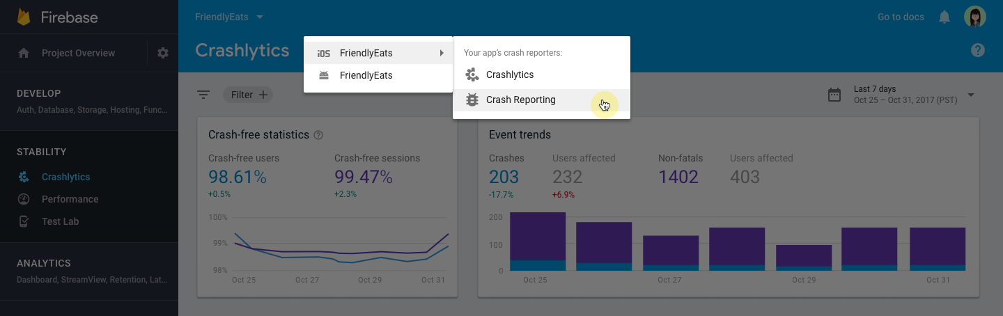 - 104 blogpost app picker - Firebase Crashlytics graduates from beta