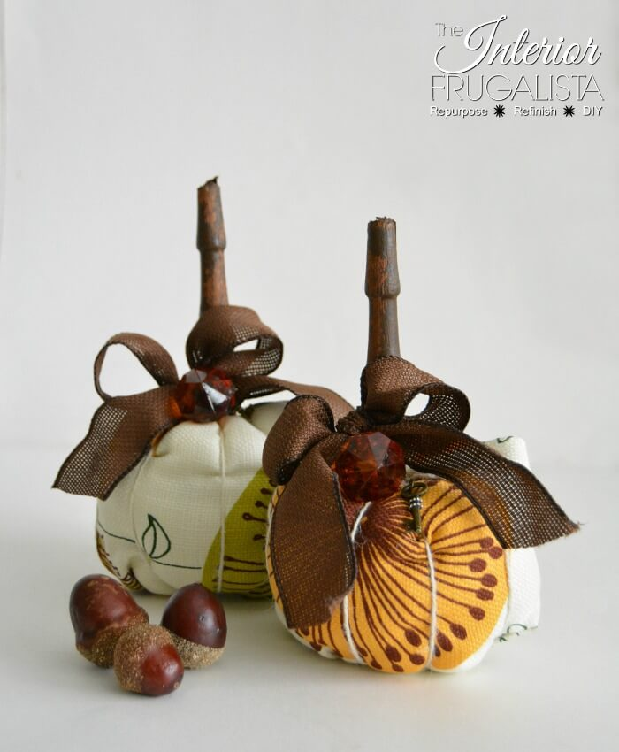 Modern Fabric Pumpkins Chair Spindle Stems