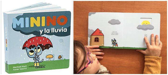 cuentos libros infantiles 0 a 3 años edad regalar navidad Minino y la lluvia