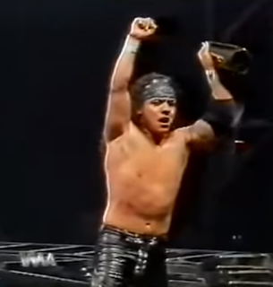 WWA The Inception 2001 - Juventud Guerrera beat Psicosis for the WWA Cruiserweight title