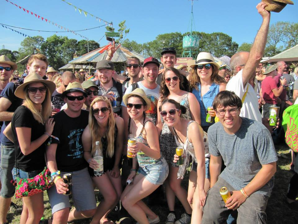 Glastonbury Festival Group Shot