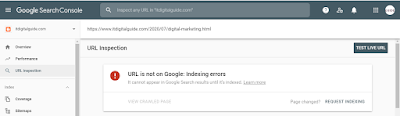 My post is not indexed in Google