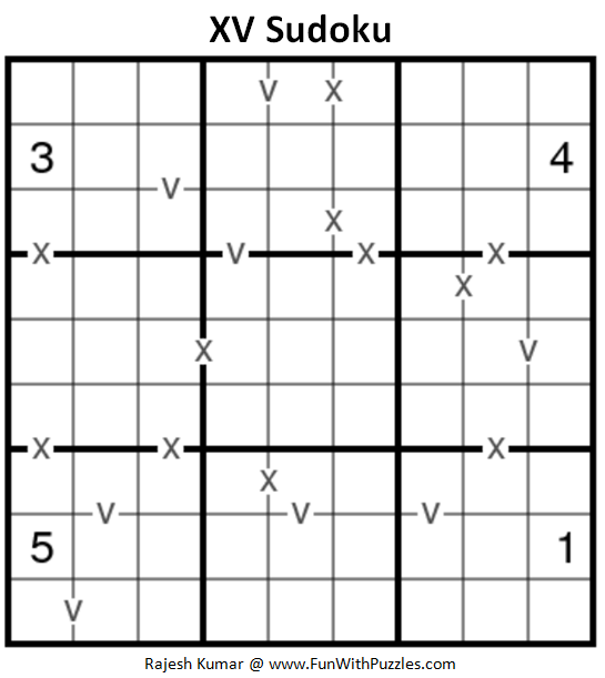 XV Sudoku Puzzle (Fun With Sudoku #231)