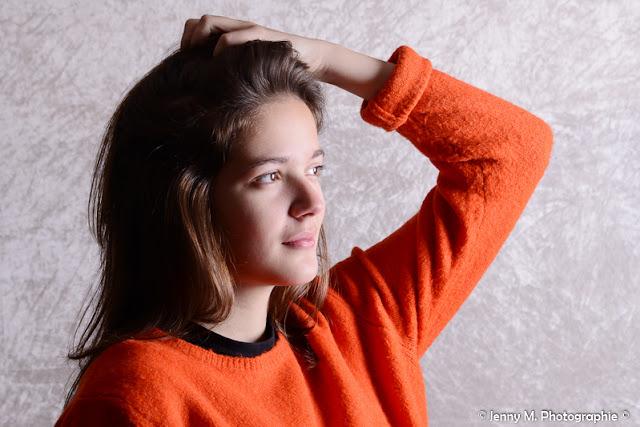 portrait ado femme studio ombre et lumière