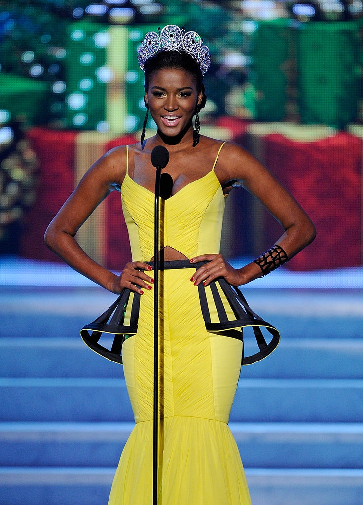 Leila Lopes Miss Universe 2011 speaks during the 2012 Miss Universe Pageant at Planet Hollywood Resort & Casino on December 19, 2012 in Las Vegas, Nevada. (Photo by Marcel Thomas/FilmMagic)