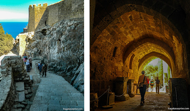 Fortaleza dos Cruzados em Lindos, Grécia