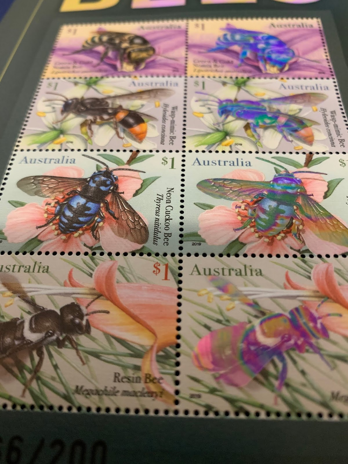 2019 Native Bees postal numismatic cover