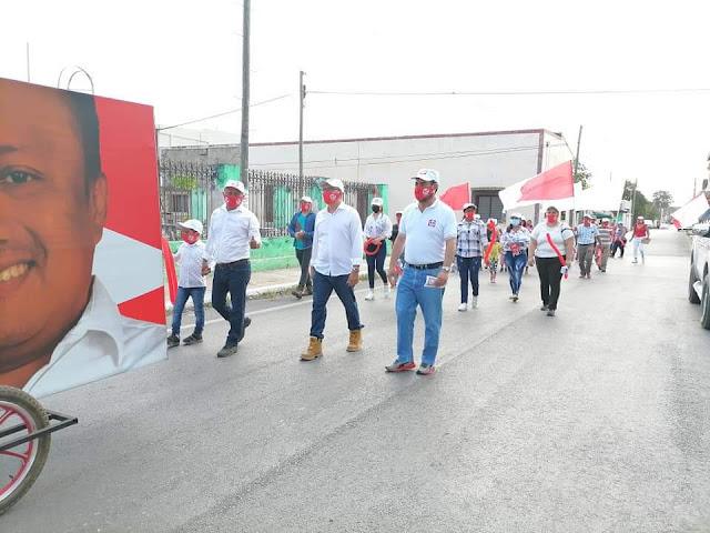 Excelente respuesta ciudadana en Maxcanú, hacia los candidatos de RSP Yucatán