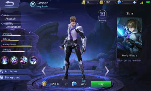New Hero Gusion, Holy Blade (Skills, Abilities and Background Story)