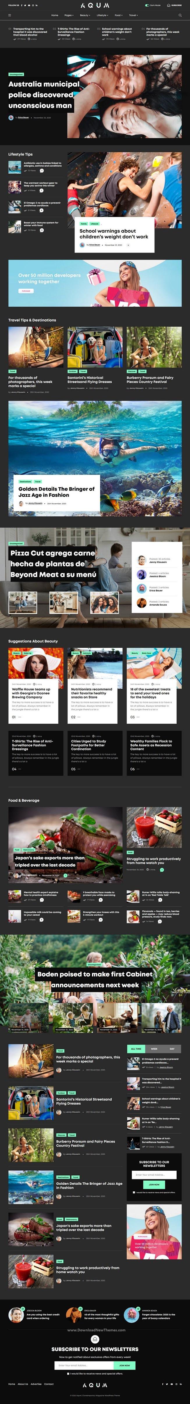 Contemporary Magazine WordPress Theme