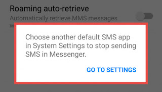 Disable SMS Feature in Facebook Messenger Now
